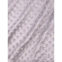 Minky Fleece Noppen Stoff Microfleece Breite 150 cm hellgrau