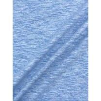 Jersey Baumwolle-Leinen uni meliert altblau