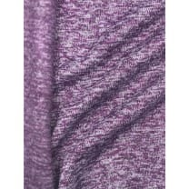 Strickstoff Strickfleece Stoff Fleece meliert dunkellila