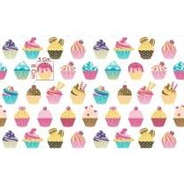 Baumwollstoff Kinderstoff Dekostoff Cupcake Muffin Breite 160cm ab 50cm