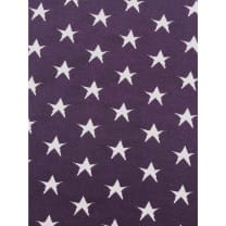 Strickstoff Stoff lila Sterne nicht gerippt ab 50 cm