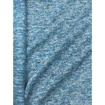 Strickstoff Strickfleece Stoff Fleece meliert hellblau