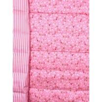 Steppstoff Baumwolle beiderseitig Blümchen wattiert Breite 155 cm ab 50 cm