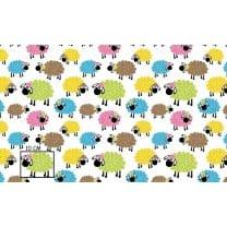 Baumwollstoff Kinderstoff Schaffe Breite 160cm ab 50 cm