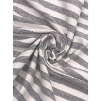 Viskose Jersey Streifen Stoff 1cmx1cm grau meliert Breite 160cm