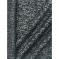 Strickstoff Strickfleece Stoff Fleece meliert dunkelgrau
