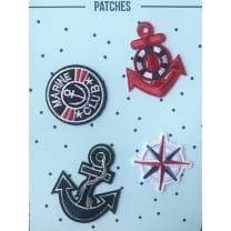Aufnäher Applikation Patches Maritim Anker Set 4 Teile