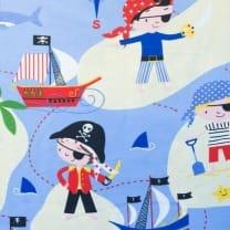 Canvas Stoff Dekostoff Baumwollstoff Piraten ab 50 cm