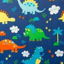 Canvas Stoff Dekostoff Baumwollstoff Dinos ab 50 cm