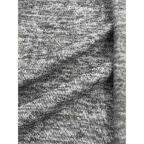 Strickstoff Strickfleece Stoff meliert grau