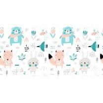Baumwollstoff Kinderstoff Tiere Breite 160cm ab 50cm