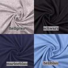 Bündchen hellblau, marineblau, hellgrau, schwarz, nicht gerippt XXL-Superbreite