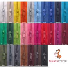 20m endlos Reißverschluss 5 mm + 25 Schieber - 27 Farben, Meterware