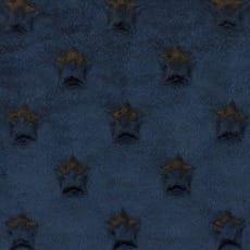 Minky Fleece Sterne Microfleece Stoff Breite 165 cm schwarz