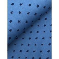 Bündchenstoff Stoff Schlauch Meterware Sterne jeansblau