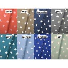 Baumwollstoff Dekostoff Sterne 3cm 8 Farben