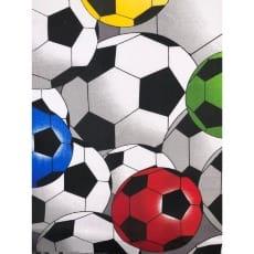 Baumwollstoff Kinderstoff Fußball 3 D Breite 160cm