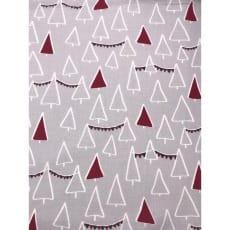 Baumwollstoff Kinderstoff Tannenbaum Weihnachten Rot Breite 160cm