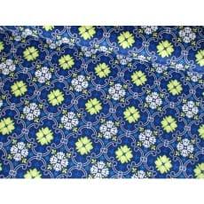 Baumwollstoff Ornamente dunkelblau