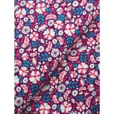 Baumwollstoff retro, blau/ pink
