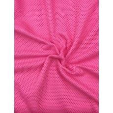 Baumwollstoff Sommerstoff kleine Löcher rosa