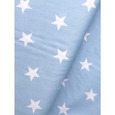 Baumwollstoff Sterne, baby blue, 3cm, Baumwolle 100%