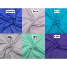 Baumwollstoff uni 6 Farben
