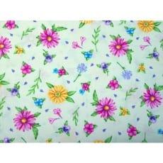 Baumwollstoff USA, Stoff Blumen