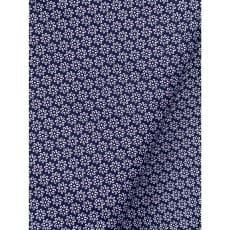 Baumwollstoff Dekostoff Stoff Blumen dunkelblau ab 50cm