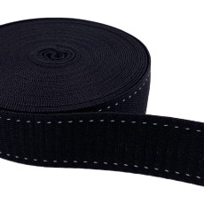 Hochwertiges Gurtband 30 mm schwarz