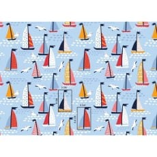Baumwollstoff Kinderstoff Segelschiff Breite 160cm ab 50 cm