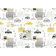 Baumwolle Kinderstoff Autos Breite 160 cm