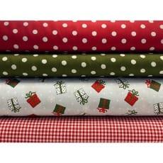 Stoffpaket Stoffset Baumwolle Weihnachten Geschenk