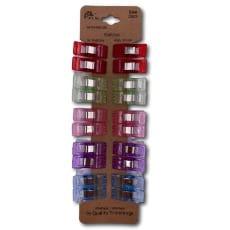Stoff Clips Klammer Kunststoff bunt gemischt klein 20 Stück