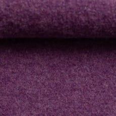 Schurwolle gekochte Wolle meliert lila