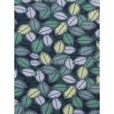Jersey Stoff bedruckt Blätter