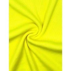 Bündchenstoff gerippt Schlauch Meterware uni Neon Farben 4 Farben neongelb