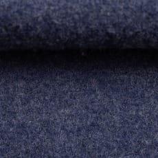 Schurwolle gekochte Wolle meliert dunkelblau