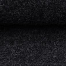 Schurwolle gekochte Wolle meliert anthrazit