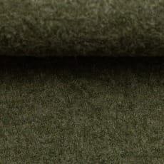 Schurwolle gekochte Wolle meliert khaki