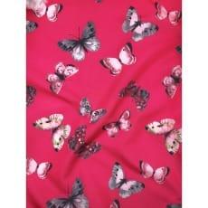 Outdoor Jackenstoff Regenjacke Schmetterling pink