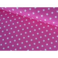 Baumwollstoff Popeline, pink, Sterne 1cm, Baumwolle 100%