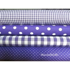Stoffpaket, violett, 4 Stoffstücke