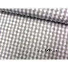 Stoff Karo grau, mittelgroß, 5mm, 100% Baumwolle