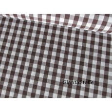 Stoff Karo, Karo mittelgroß 5mm, dunkelbraun, 100% Baumwolle