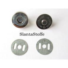 Magnetknopf 18mm, Magnetverschluss silber