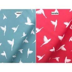 Jersey Stoff Interlock Vögel 2 Farben