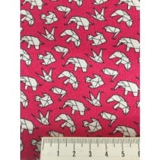 Jersey Stoff Origami Tiere, pink