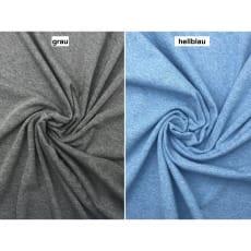 Jersey Stoff uni meliert 2 Farben