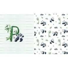 Panel Jersey Stoff Panda Kinderstoff 0,66 m x 1,50m
